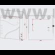 Design postaláda újságtartóval V31 fekete - inox