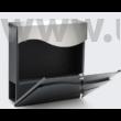 Design postaláda újságtartóval V30 antracit - inox