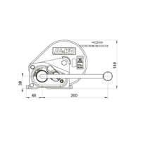 AL-KO Húzócsörlő BASIC 500A + Szalag 7m