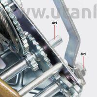 Kézi csörlő 1100 kg 10 méter drótkötéllel / 2 sebességes!