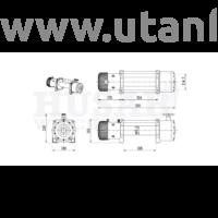 Husar elektromos csörlő BST 10000 LBs