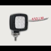 Munkalámpa LED 650 lm, 9 LED, fekete