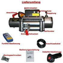 Elektromos csörlő 5900 Kg 12 Volt