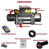 Elektromos csörlő 5900Kg 24 Volt