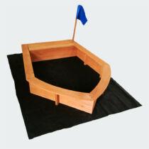 Homokozó hajó forma 150x108x50 cm