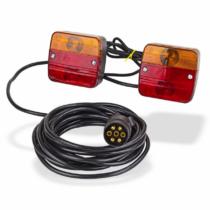 Utánfutó komplett lámpa szett mágneses lámpákkal, Multipa