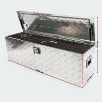 Aluminium box - 123 x 38 x 38 cm