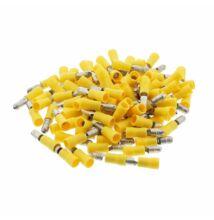 100 db kerek saru sárga 4-6mm² 300V