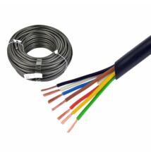 7 eres kábel  6x0,75mm + 1x1mm gumi szigetelés