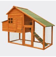 Csirke ház lucfenyőből szabadonfutóval fészkelő dobozzal