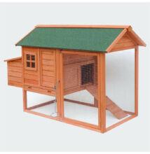 Csirke ház szabadonfutóval megnövelt menenedékel