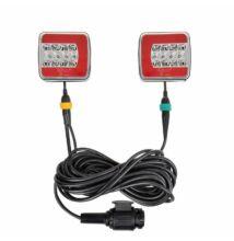 Komplett lámpa szett  LED 4F 7,5+2,5M Kabel 13 pólusú