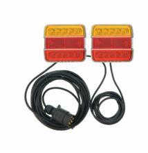 LED világítás készlet hátsó lámpával mágneses 7,5 + 2,5M kábelre
