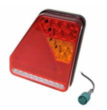 Hátsó lámpa 5 funkció 208x188mm 22LEDs jobb
