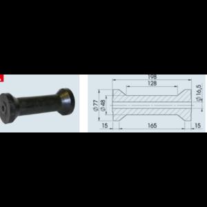 Ékgörgő Ø77X198 / 16,5mm
