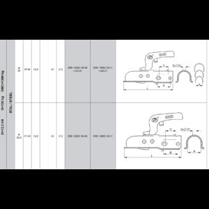 SPP Kapcsolófej 750 kg  zártsz. 50 mm