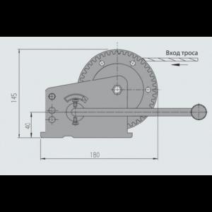 AL-KO Húzócsörlő 500 kg kötél nélkül