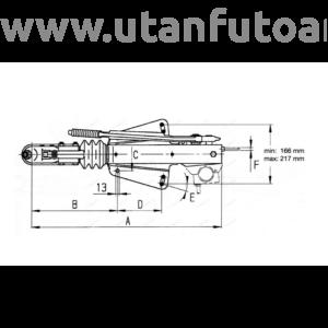 Ráfutófék-V 251 S, 2700 kg, felső, Fék 1637/2051, AK 270 Optima