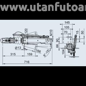 Ráfutófék-V 251 S, 2700 kg, felső, Fék 1637/2051, AK 270 Optima, orrkeréktartó