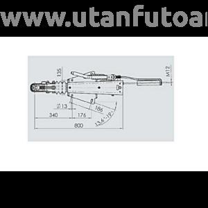 Ráfutófék-V 2,8 VB/1, 3500 kg, felső/alsó, fék 3062/3081, AK 351