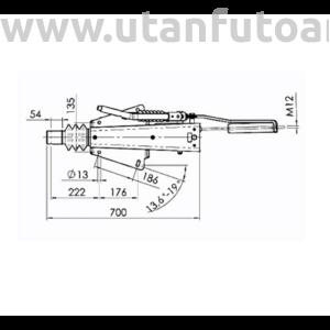 Ráfutófék-V 2,8 VB/1, 3500 kg, felső/alsó, fék 2051/2361