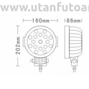 Munkalámpa L0091-B 17x LED