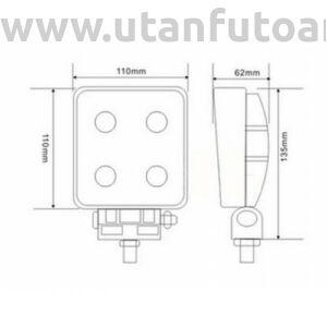 Munkalámpa L0075 4x LED