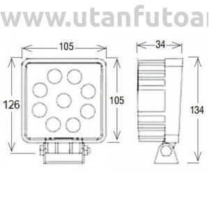 Munkalámpa L0077 9x LED