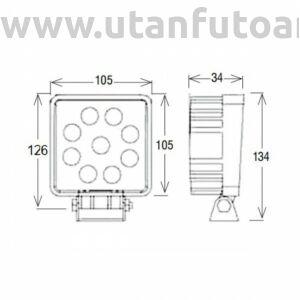Munkalámpa L0077-4M 9x 4m LED