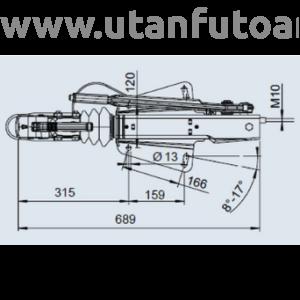 Ráfutófék-V 251 S, 2700 kg, felső, Fék 3062/3081, AK 270 Optima