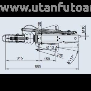 Ráfutófék-V 251 S, 2700 kg, felső, Fék 2361, AK 270 Optima
