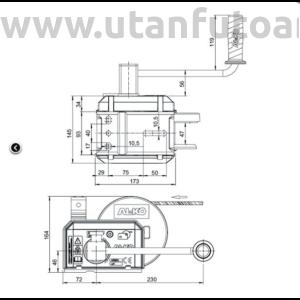 AL-KO Csörlő OPTIMA 501A PLUS + Kötél 12,5m