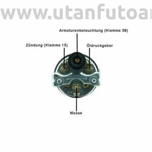 Olajnyomásmérő 0–10 bar 12 V-os jeladóval, Ø 52 mm