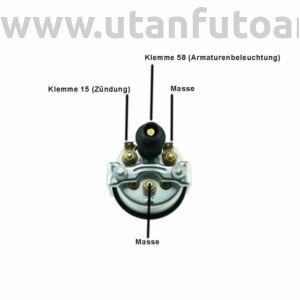 Feszültség mérő 16-32V, Ø 52 mm