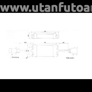 Fristom controll box LED lámpa vezérlő egység - 7 pólusú csatlakozókkal