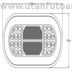 LED hátsó lámpa L1891 - jobb - bal