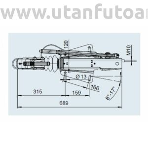 Ráfutófék-V 251 S, 2700 kg, alsó, Fék 3062/3081, AK 270 Optima