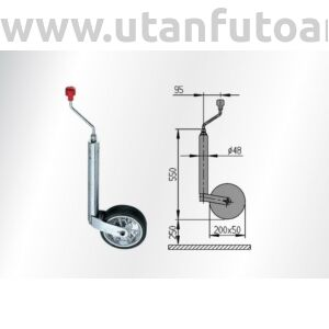 AL-KO orrkerék 200x50  300 kg 48 mm