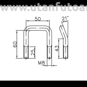 Winterhoff rögzítő elem, ellendarabbal  ZBF10PO