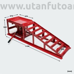 Autóemelő rámpa hidraulikus 2000 kg teherbírás