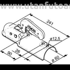 AL-KO kapcsolófej 750 kg cső 60 mm