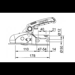 AL-KO kapcsolófej 1600 kg AK161 cső 50 mm