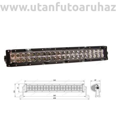 "LED-es lámpa, fényhíd, 120W, 40LED, 630mm ""e9"" jeles"