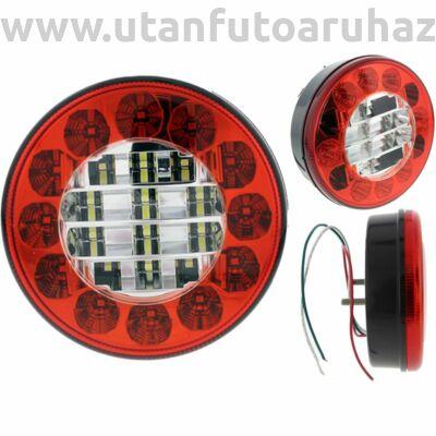 A hátsó lámpa kerek 2 funkciója 24LED 122x61x45mm