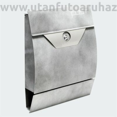 Premium modern fali postaláda  V2 antracit szürke porfestett