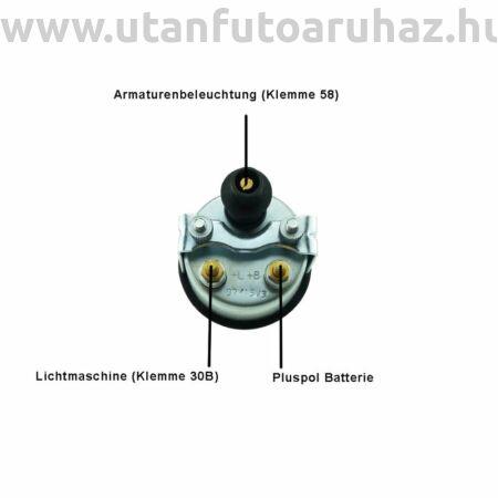 Amper mérő  12 - 24 V  Ø 52 mm