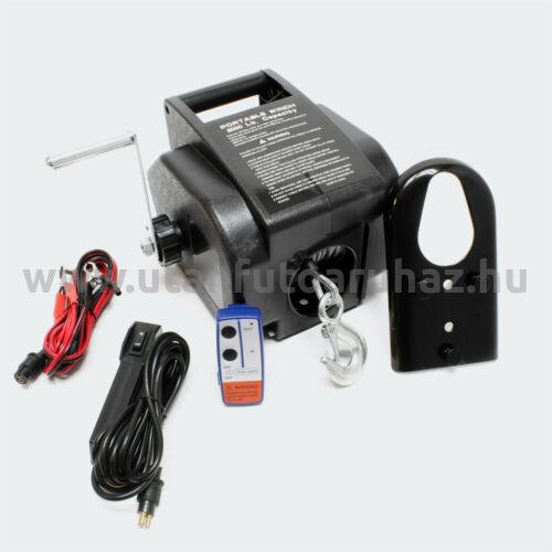Elektromos csörlő 12V-os távirányítóval -  2,2 T max. teher