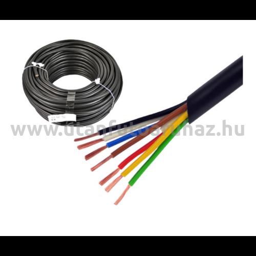 7 eres kábel 6x0,6mm + 1x1mm  - gumi szigetelés