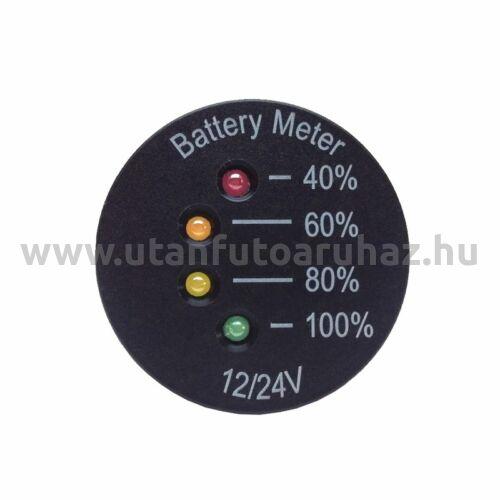Feszültség mérő LED 12 / 24V, Ø 26,4 mm