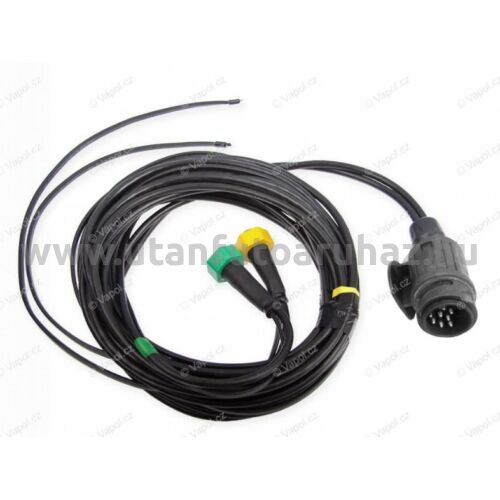 Utánfutó elektromos vezeték 13pin / 9 m lámpa nélkül + 6,5 m, helyzetjelző kivezetéssel